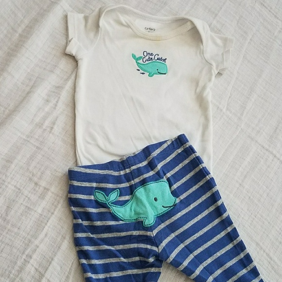 Carter's Other - 🌹 3 for $12-  Boys Whale Outfit- 3 Months